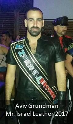 Aviv Grundman, Mr. Israel Leather 2017 in Sash